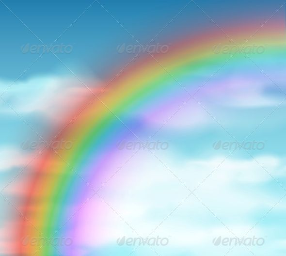 Natural Background With Rainbow Natural Background Landscape Background Background