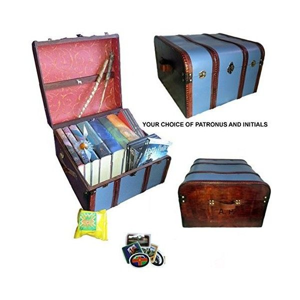 Hogwarts Trunk Ravenclaw Blue (€91) ❤ liked on Polyvore featuring home, home decor, blue home decor and blue home accessories