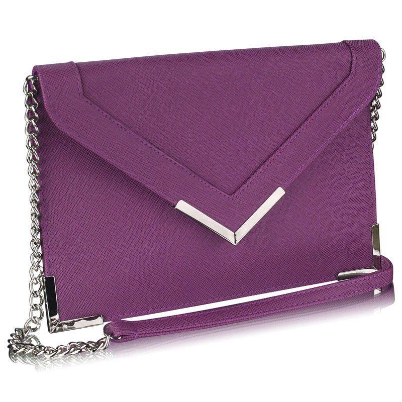 LS Fashion společenská kabelka LS0179A fialová  163fb0fa74a