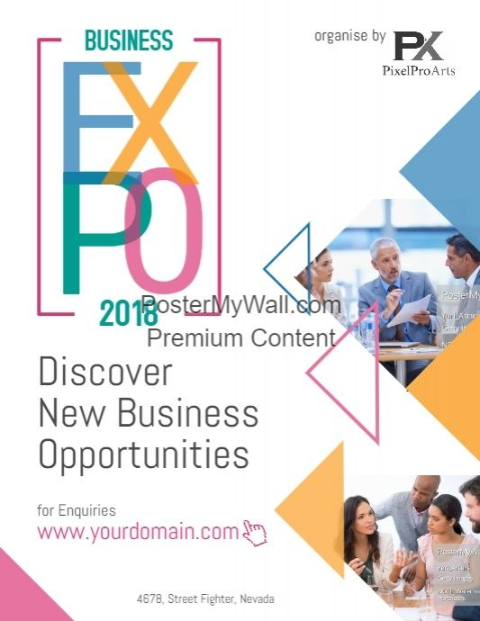 business expo event poster flyer business flyer template