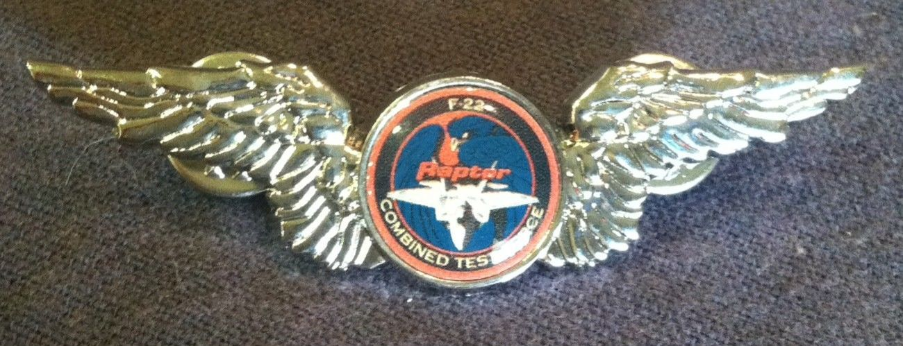 US USA F-22 Raptor Jet Military Hat Lapel Pin
