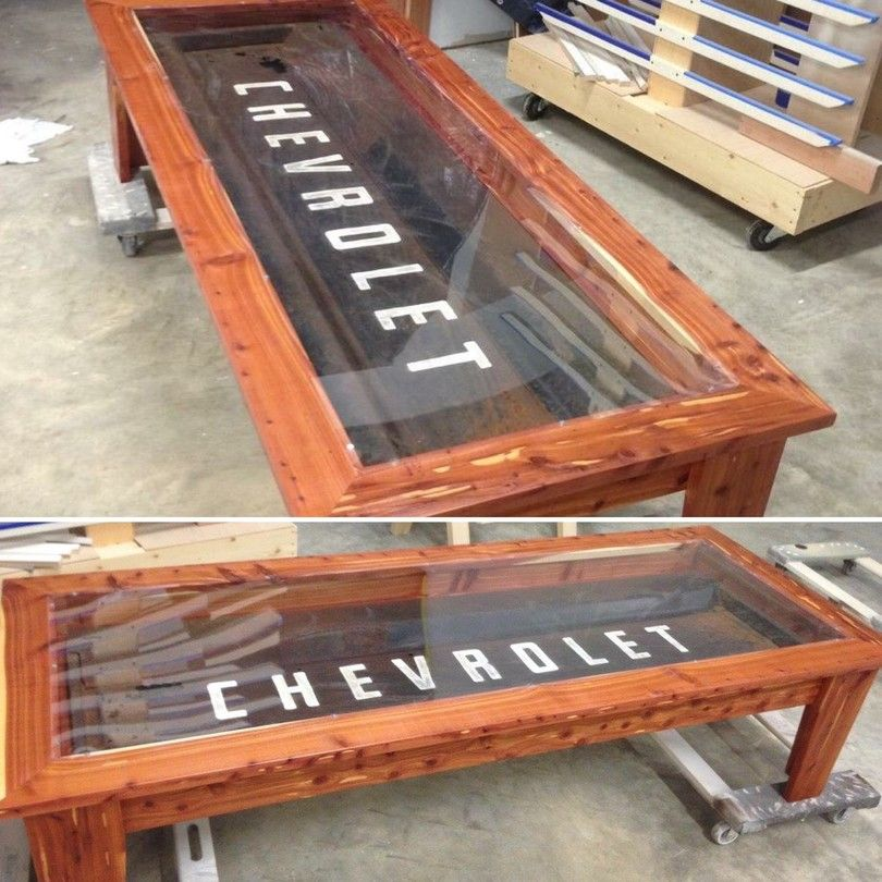 Old Chevrolet Tailgate turned into a coffee table - By Godfrey's Custom  Cabinets - Old Chevrolet Tailgate Turned Into A Coffee Table - By Godfrey's