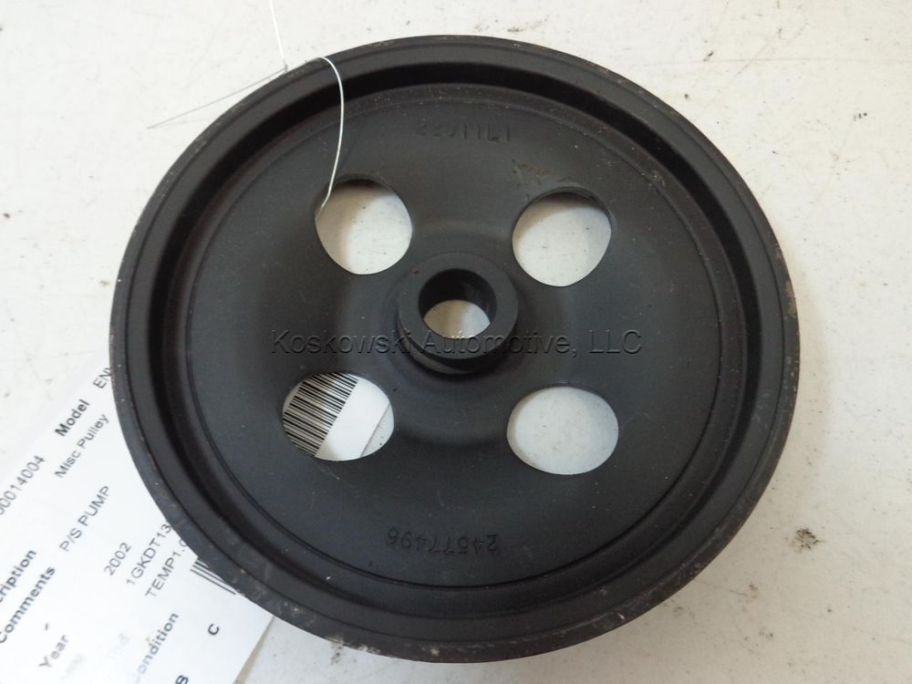24577496 Power Steering Pump Pulley 4 2 L 2002 Gmc Envoy Gm Gmc Envoy Gmc Chevy Trailblazer