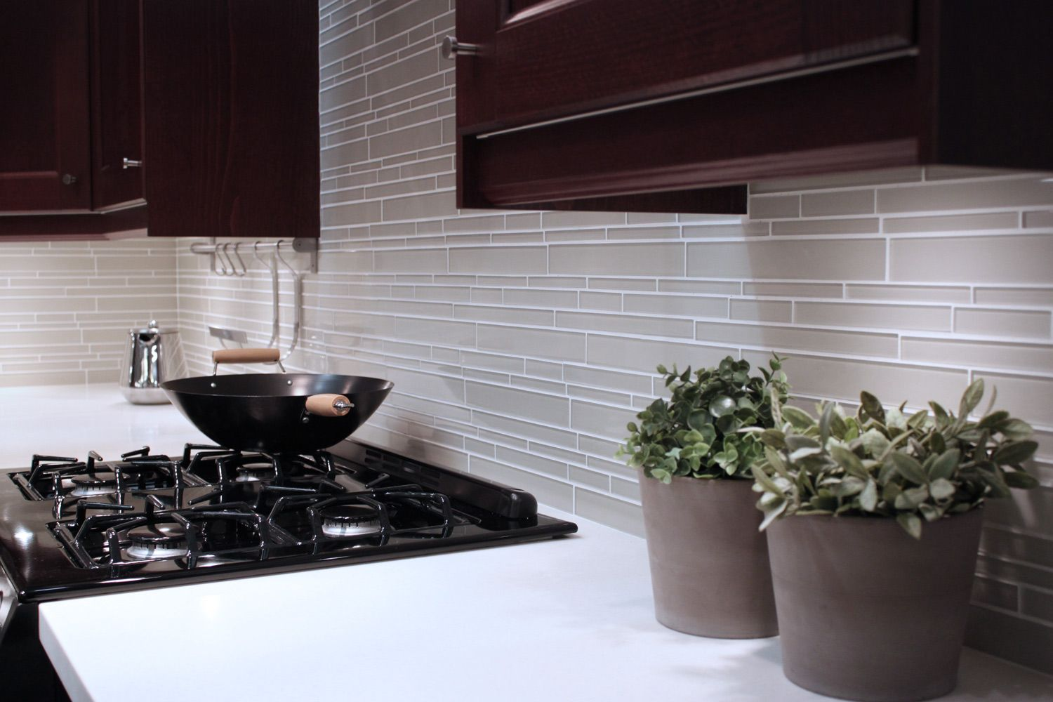 Off White Gl Subway Tile Kitchen