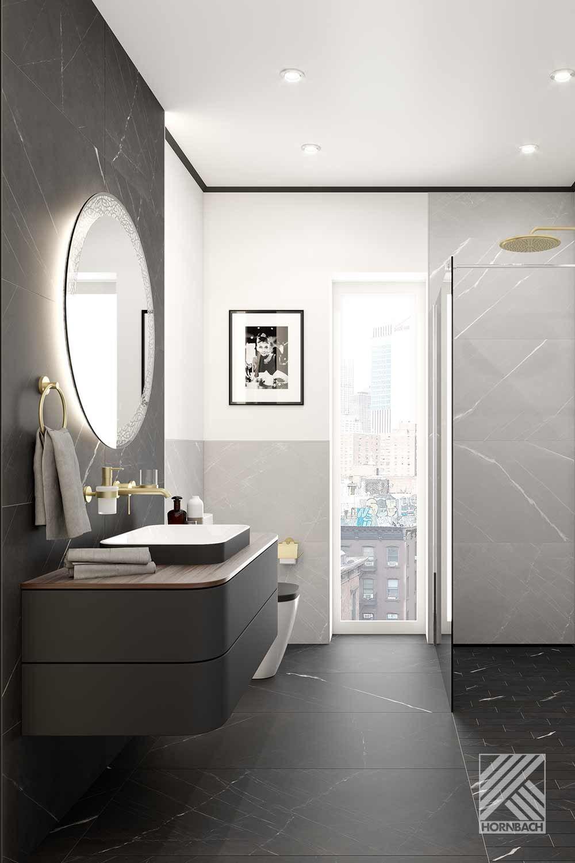 Musterbad Manhattan Hornbach In 2020 Badezimmer Gestalten Badezimmereinrichtung Kleines Badezimmer