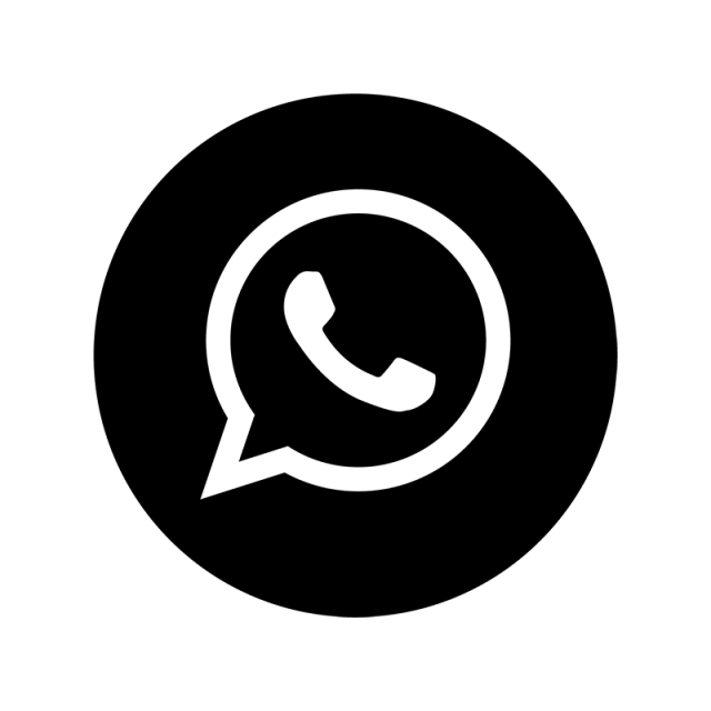 Whatsapp Black Amp; White Icon Whatsapp Logo Icone