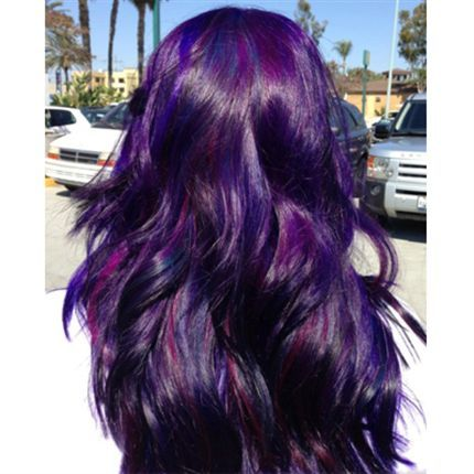 Purple hair behind the chair articles hair and for Shades of dark purple