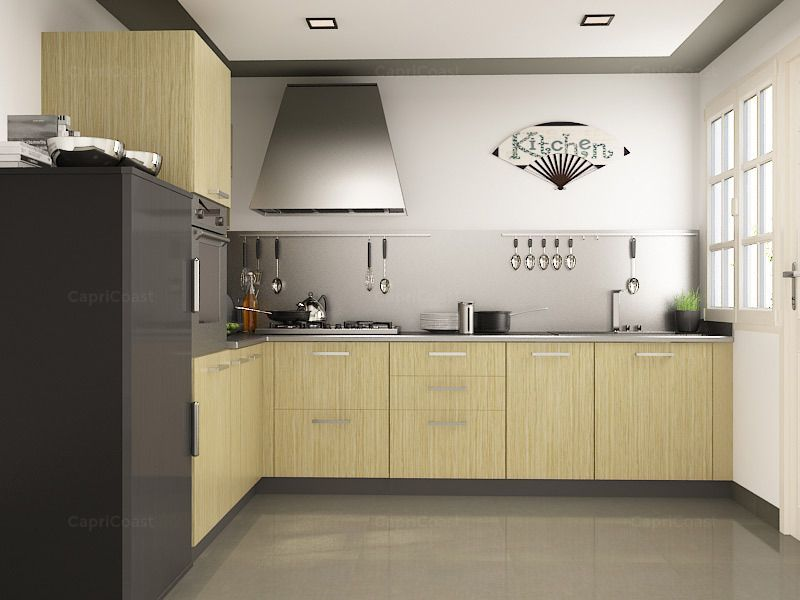 L-Shaped Pino Modular Kitchen on CapriCoast is fulfilled by ...
