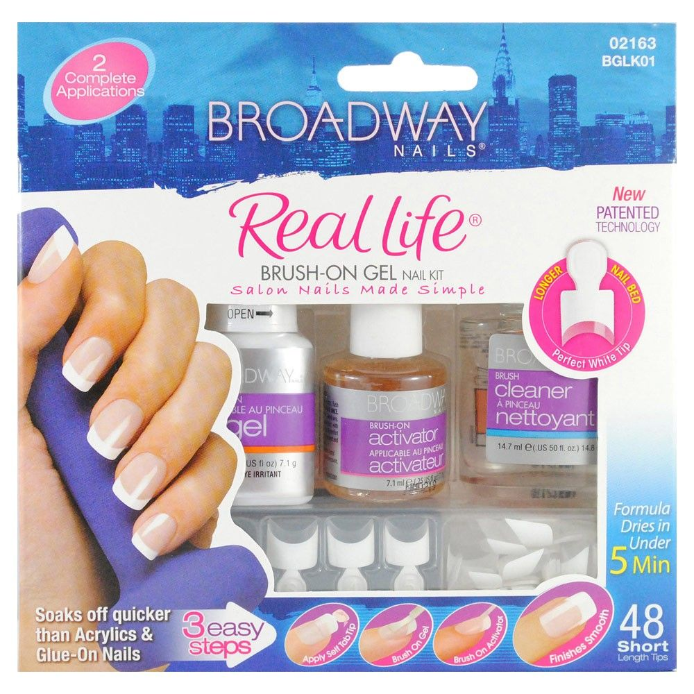 Kiss Broadway Nails Real Life Brush-On Gel Nail Kit 1 Kit | Nails ...