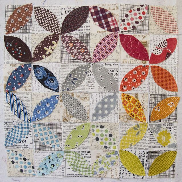 I've pinned this before, and I'm pinning again: Orange peel via applique LOVE IT!