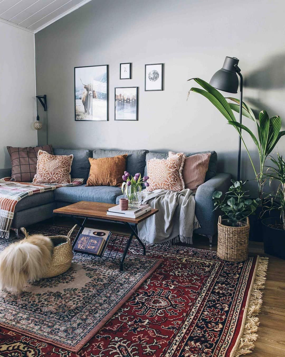 Vintage Hygge Home By Essi On Instagram Okey I Couldn T Live Without Our Red Rug So Here Is Rugs In Living Room Red Rug Living Room Oriental Rug Living Room