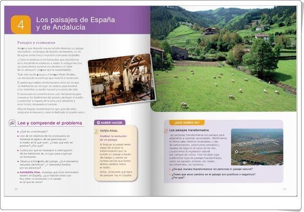 """Unidad 4 """"Los paisajes de España"""" de Ciencias Sociales de"""