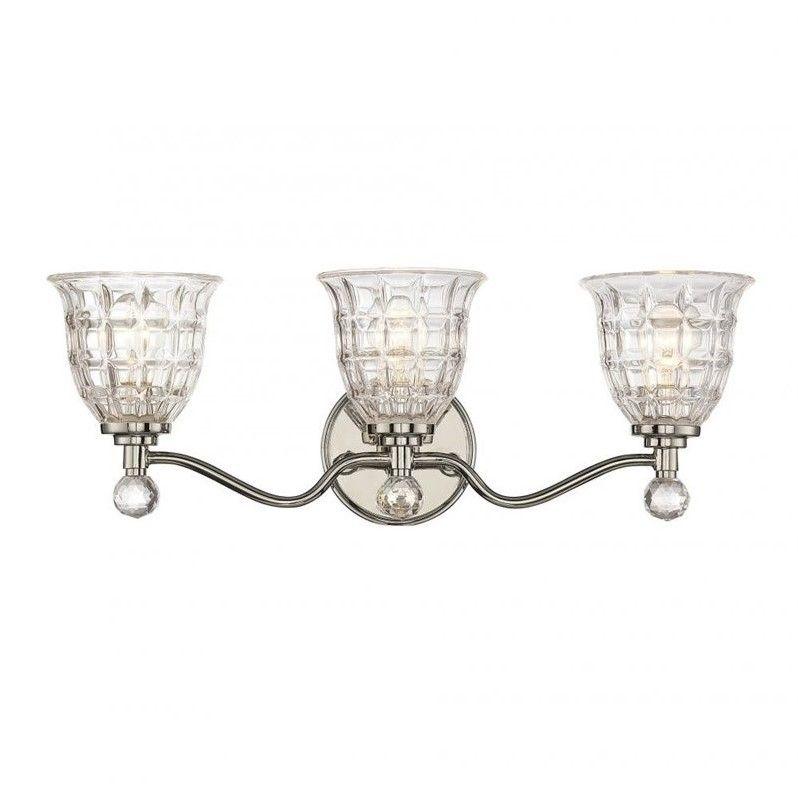 Savoy House Birone 3 Light Bath Bar in Polished Nickel - 8-880-3-109
