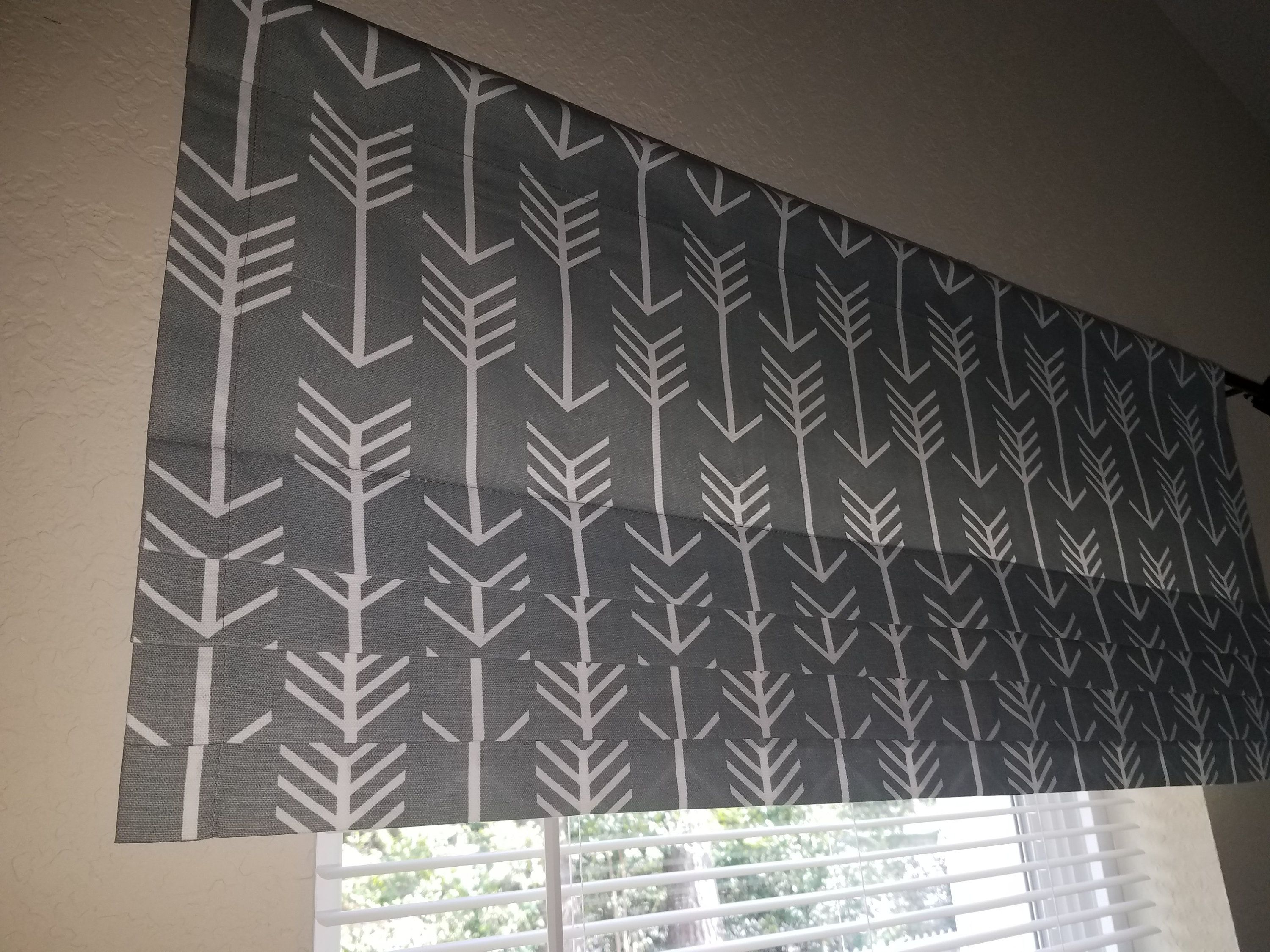 Faux Roman Shade Unlined Valance Kitchen And Bedroom