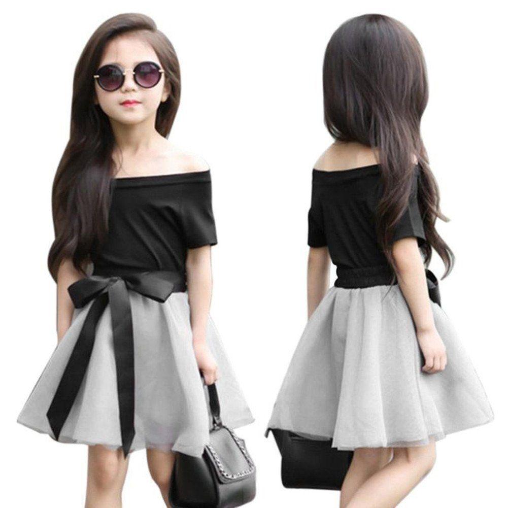 f8526d96a9 starlit Kids Girls Fashion cute Summer Short Sleeve Top Bowknot ...