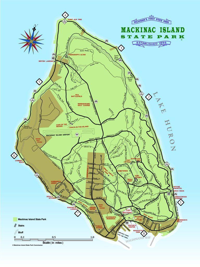 Mackinac Island State Park Mackinac Island Mackinac Island Map