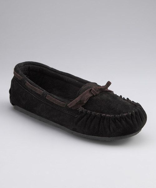 b1421525249d Another great find on  zulily! Black Suede Sabrina Moccasin ...