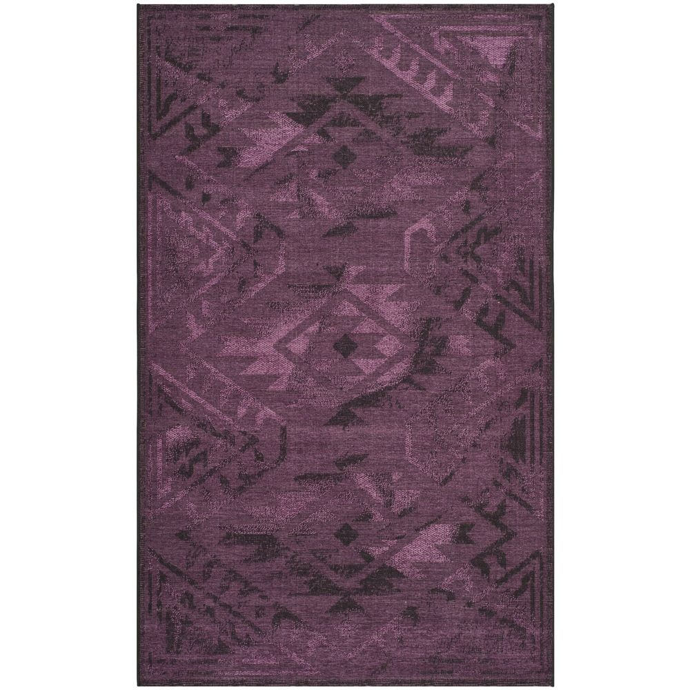 Safavieh Palazzo Black/ Purple Over-dyed Chenille Rug (4' x 6') | Overstock.com Shopping - The Best Deals on 3x5 - 4x6 Rugs