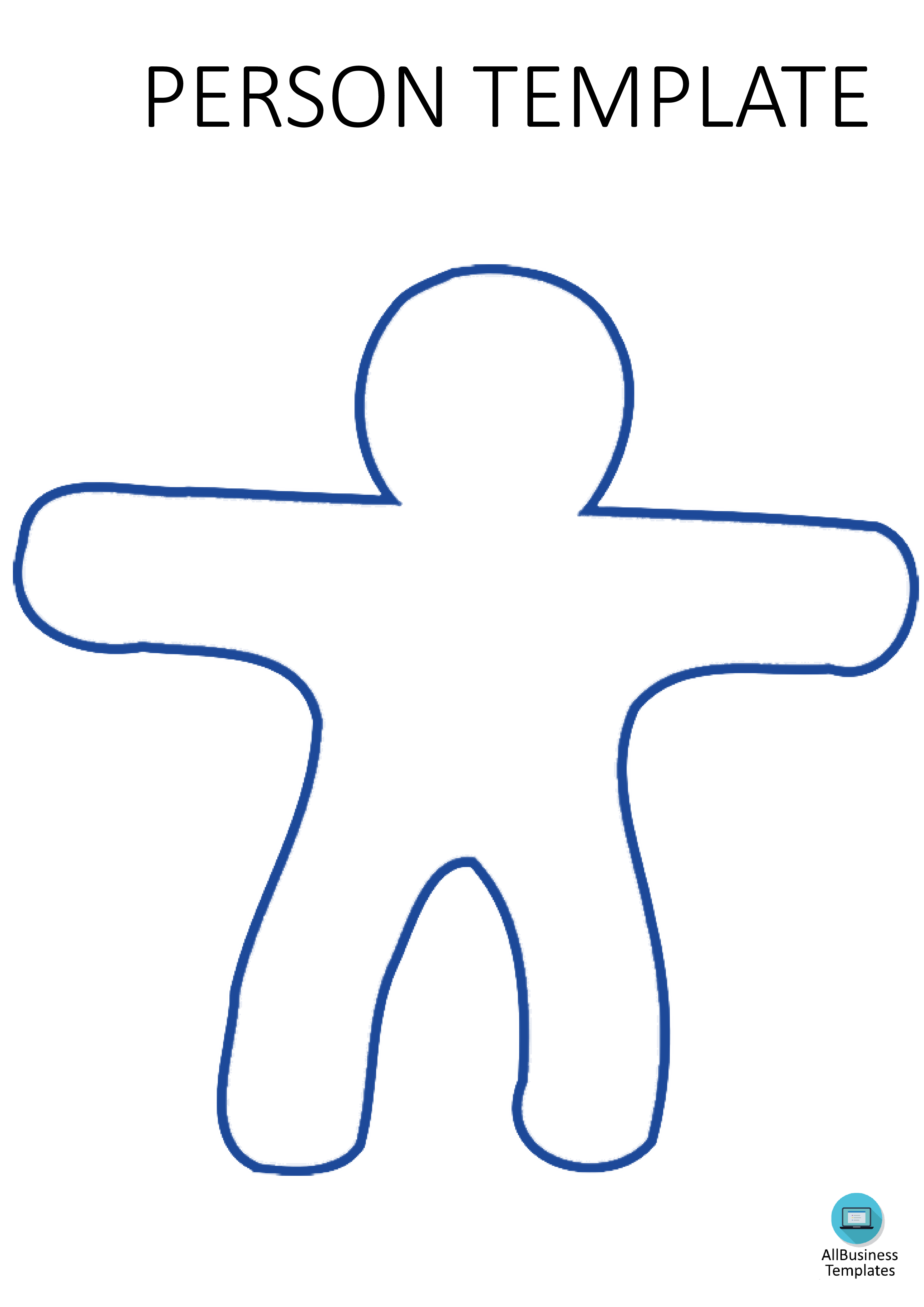 Person Template A3 Portrait - How to make a Person shape? Download this PDF Person shaped template in A4 size and portrait position now!
