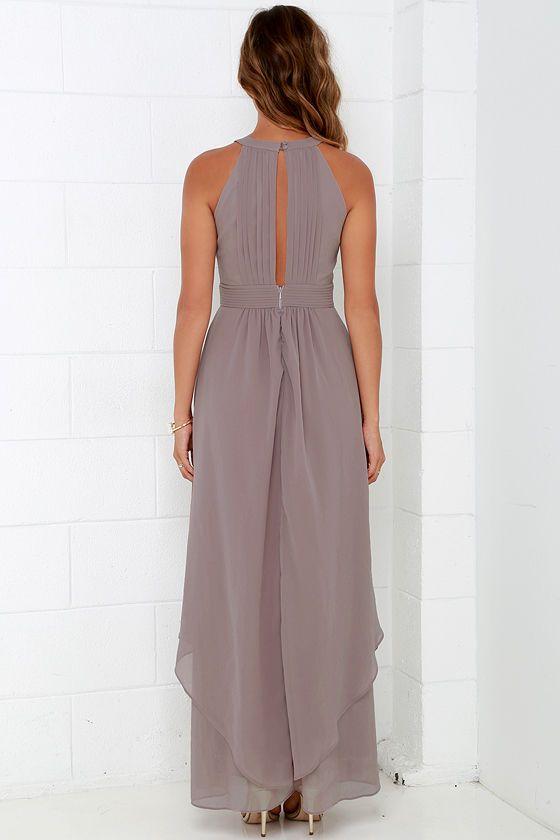 Dream Girl Taupe Maxi Dress Taupe Maxi Dress Cheap Bridesmaid Dresses Summertime Dresses