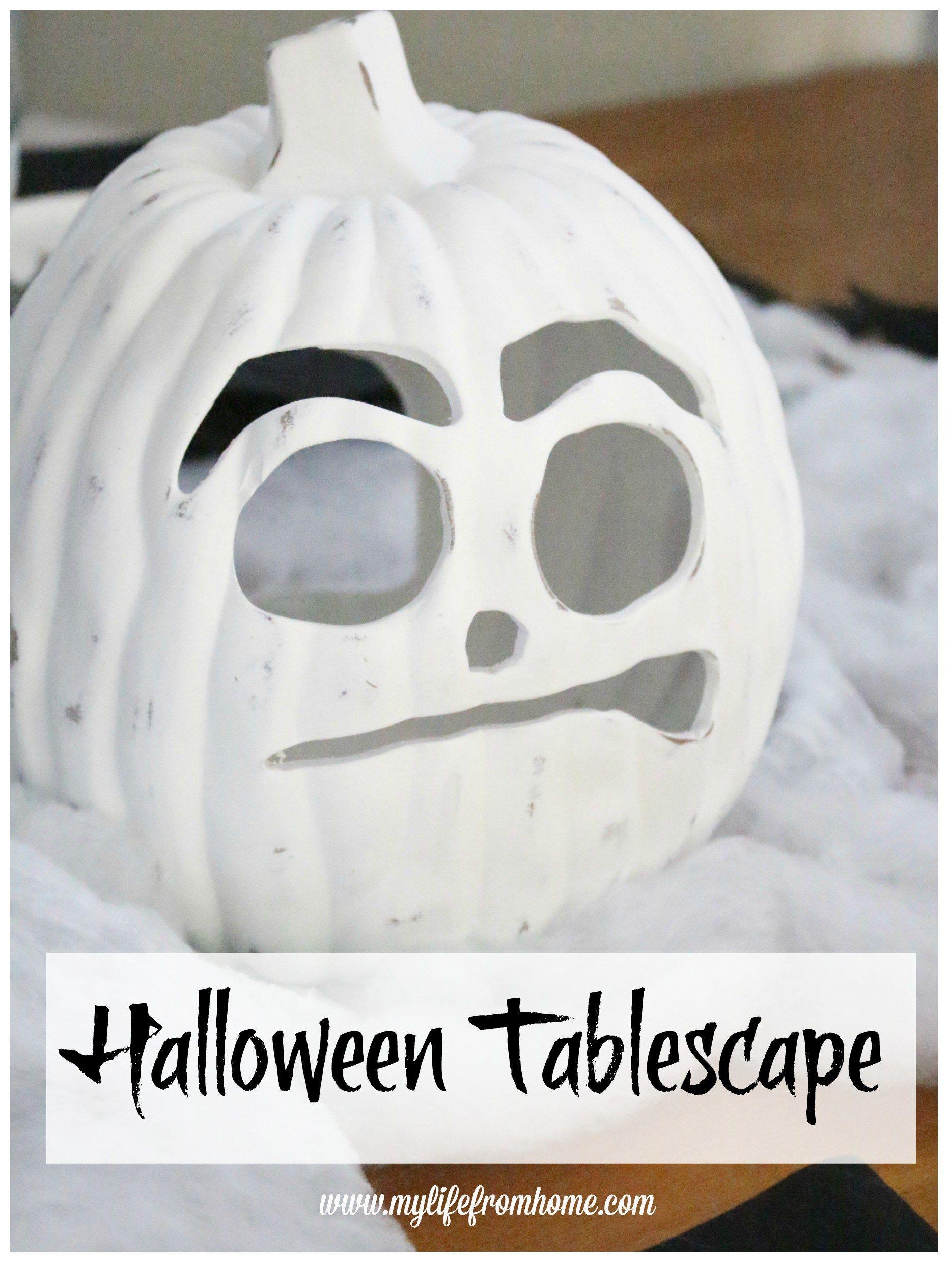 halloween-tablescape-halloween-decor-decorating-for-halloween - black and white halloween decorations