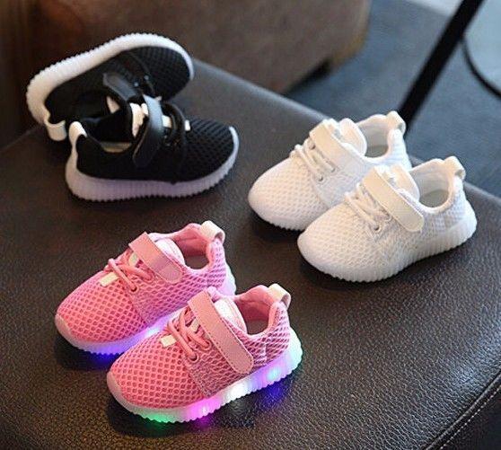 e9bc21b7152 Zapatos de Bebe Niña Niño Zapatillas de Malla con Luz LED Intermitente   Unbranded  Athletic