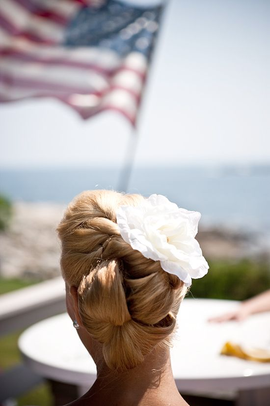 Bridal Hair by Hair That Moves, seacoast wedding maine  http://hairthatmoves.com/