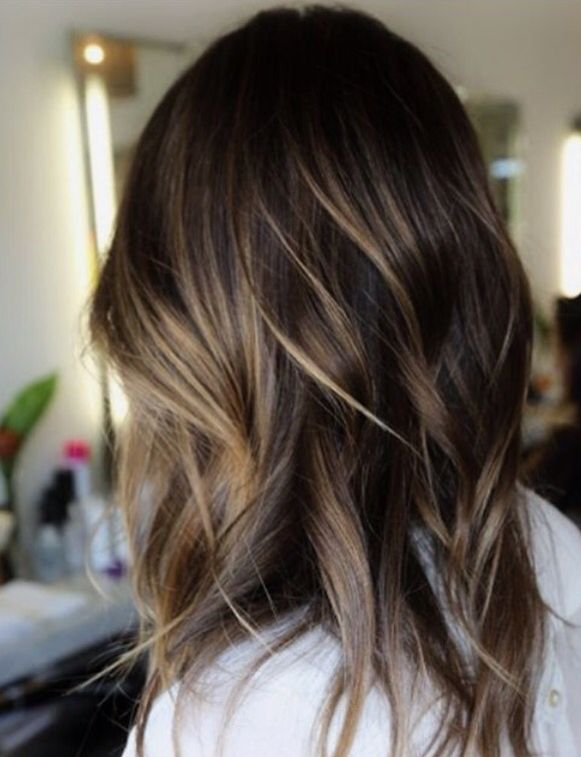 Brunette Balayage Narrowed Down Hair Color Pinterest Balayage