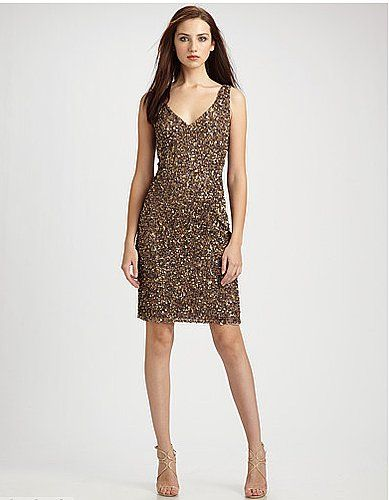 Gold Bronze Color Theia Sequin Dress Nellies Girl On