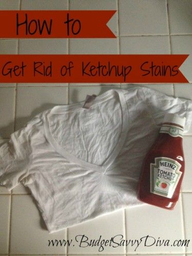how to remove ketchup stains tips tricks diy diy cleaning products stains diy cleaners. Black Bedroom Furniture Sets. Home Design Ideas