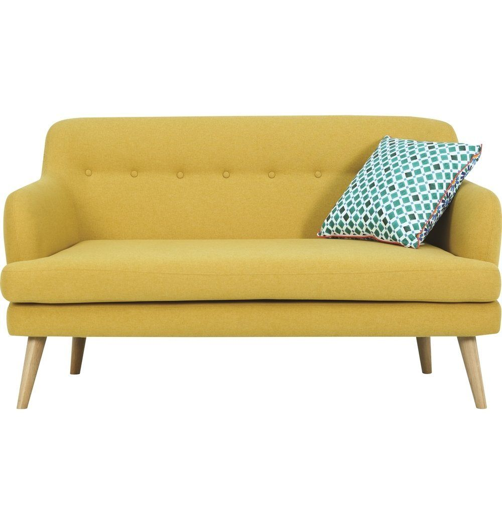 Exelero Loveseat 2 Seater Sofa Yellow In 2020 Love Seat Sofa 2 Seater Sofa