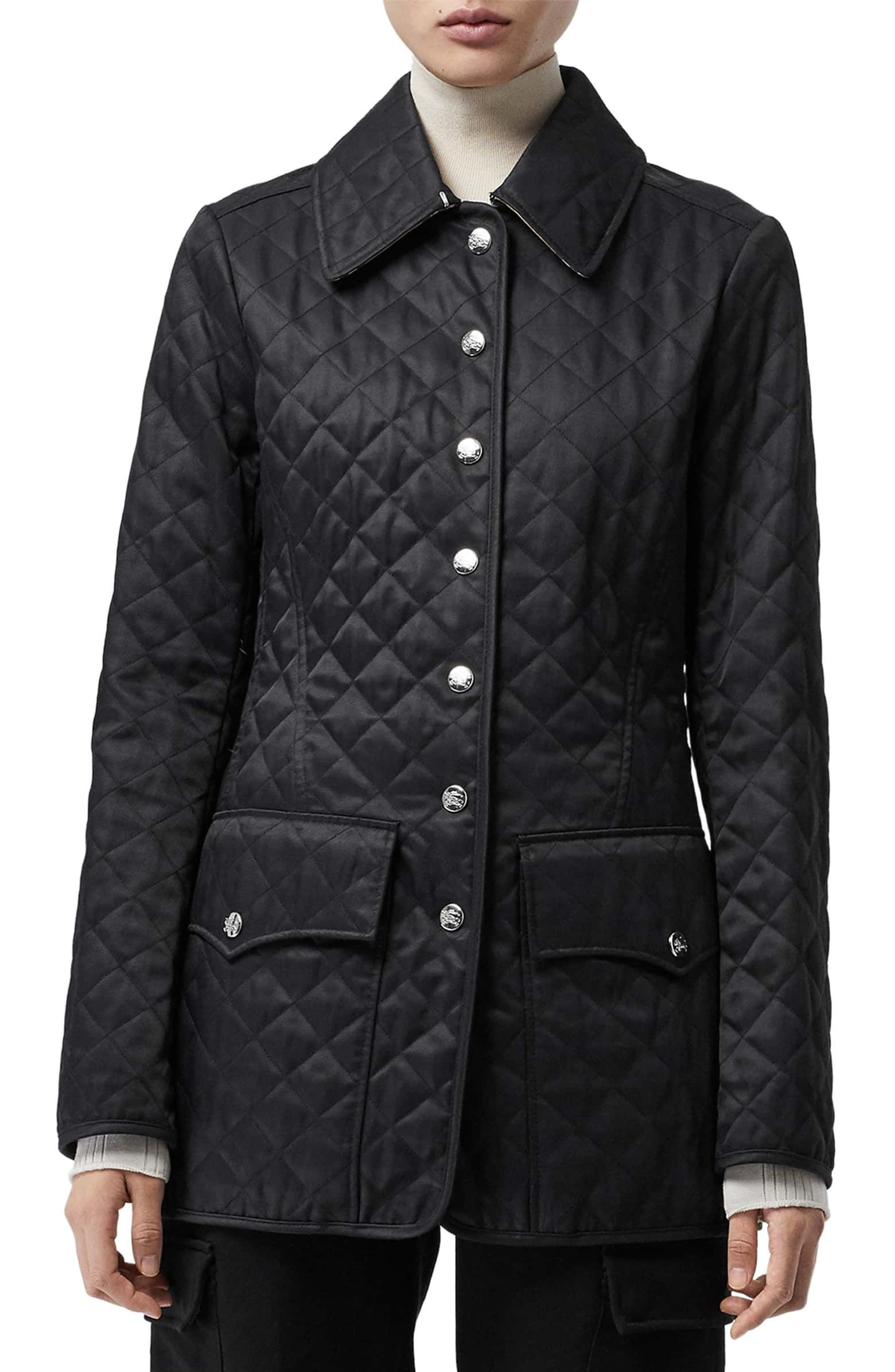 Borthwicke Quilted Jacket Main Color Black Quilted Jacket Jackets Jacket Sale