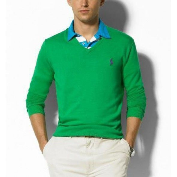Ralph Lauren Soft Green Mesh Men Sweaters http://www.ralph-laurenoutlet
