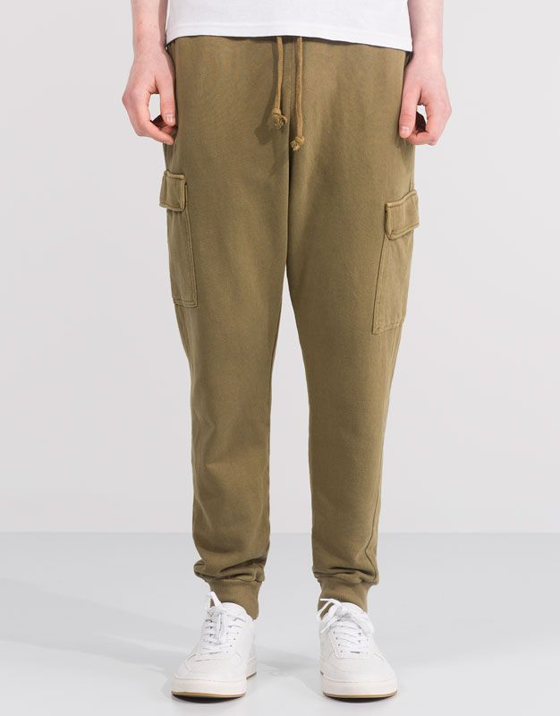 fecafb3d55 CARGO JOGGERS WITH SIDE POCKETS - JOGGERS - MAN - PULL&BEAR Turkey ...