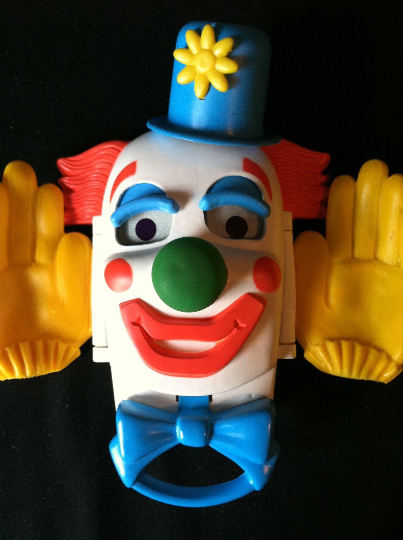 Creepy Cute Retro Busy Peek A Boo Crib Toy Circus Clown