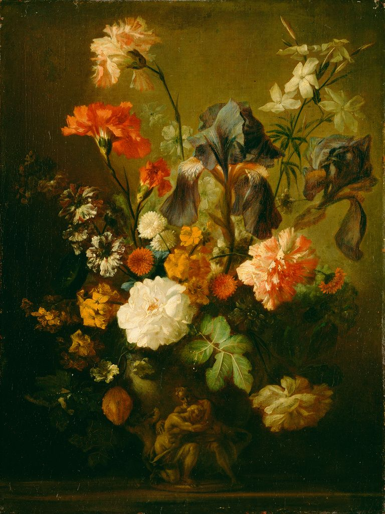 """Vase of Flowers,"" Follower of Jan van Huysum, mid-18th ..."