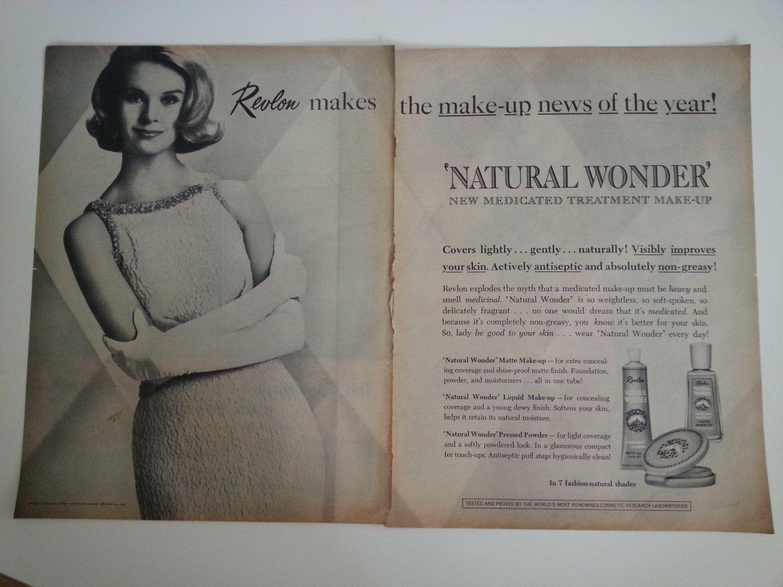 1962 Revlon Cosmetics Natural Wonder Medicated Makeup
