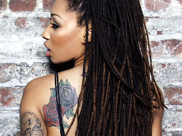 Pin By Toni S World On Women With Dreadlocks Thick Hair Styles Locs Hairstyles Natural Hair Styles