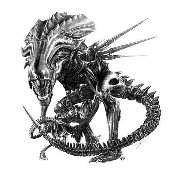 Wzory Tatuażu Obcy Monika Tatuaże Obcy W 2019 Alien