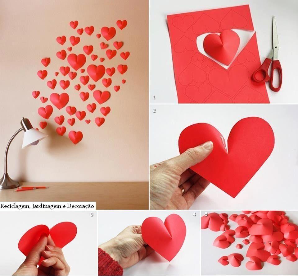 Corações em relevo