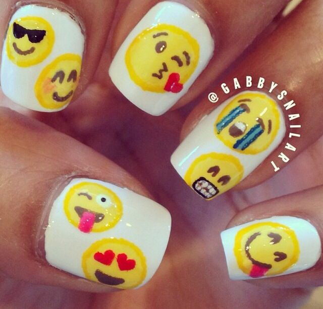 emojis   NAILS   Pinterest   Arte uñas y Arte