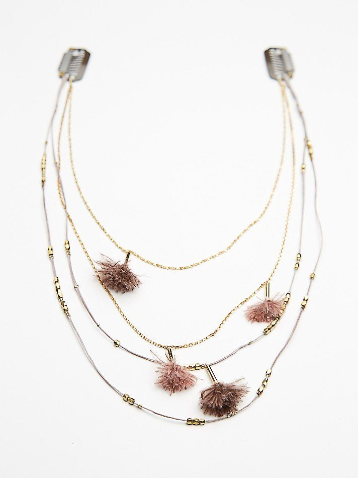Free People Chain & Feather Back Halo at Free People Clothing Boutique
