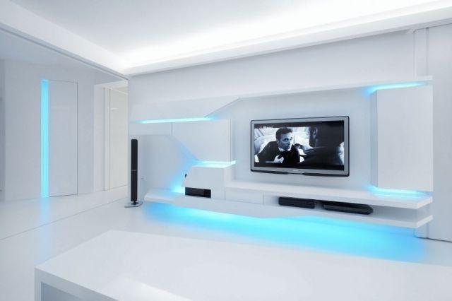 Weisse Wohnung Futuristisch Innendesign | Renovierte Weisse Wohnung Mit Futuristischem Innendesign