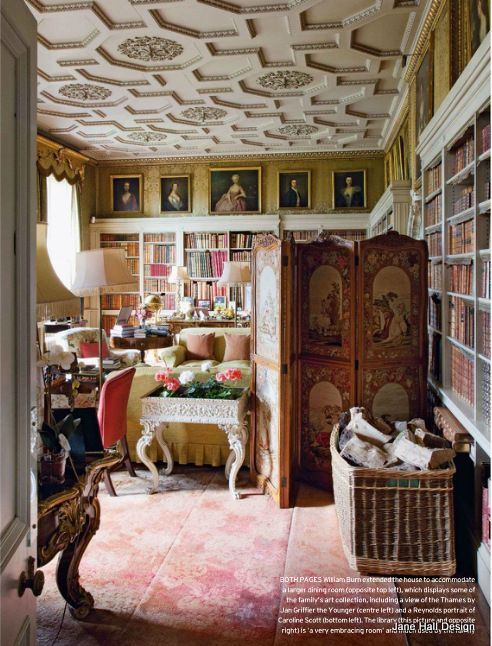 Country Home Interior Design: Historical 17th Century Salon In A Country Manor