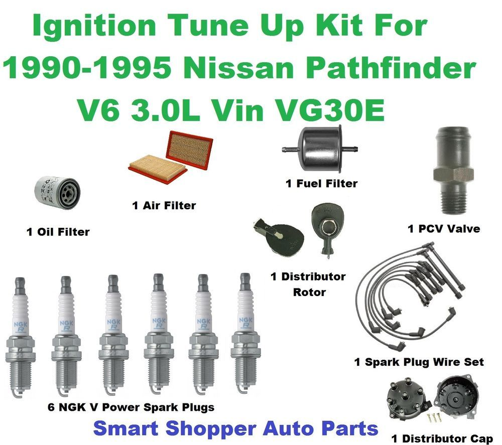 medium resolution of ignition tune up for 90 95 pathfinder distributor cap rotor filter spark plug aftermarketproducts