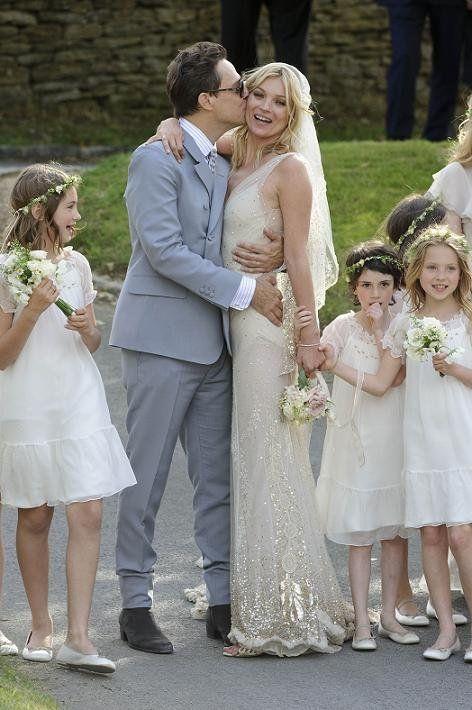 el vestido de novia de kate moss, diseñado finalmente por galliano