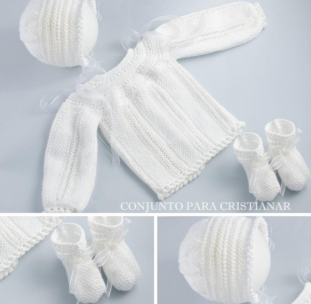 "Baby sweater, body & sleeves worked sideways, round yoke, ""punto de ..."