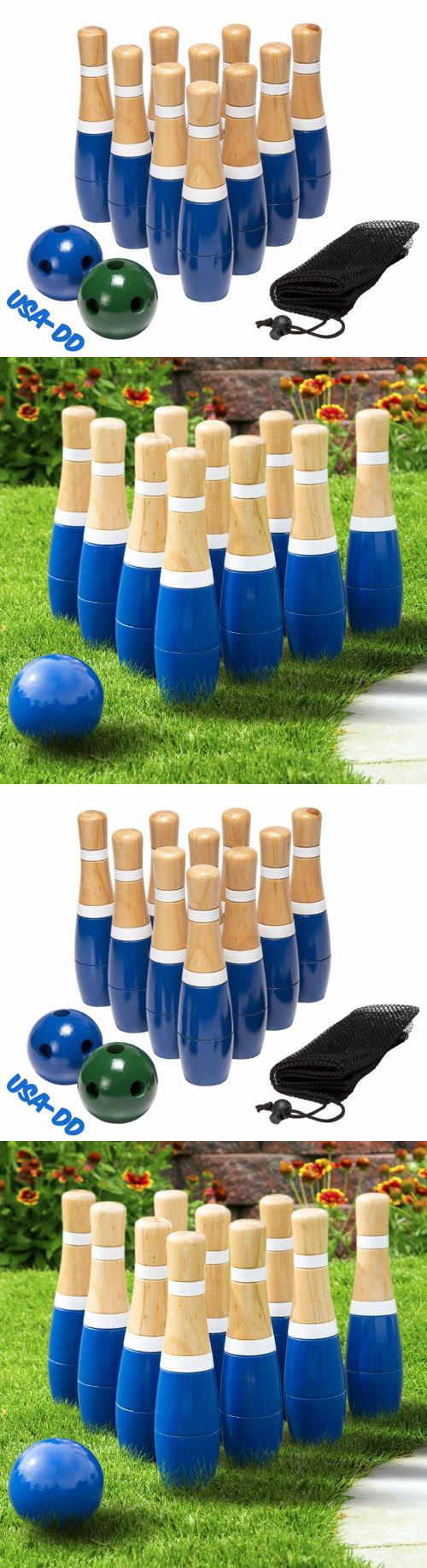 other backyard games 159081 wooden lawn bowling set family yard