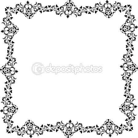 Design cadre plante noir sur blanc — Image vectorielle Dr.PAS © #6328722