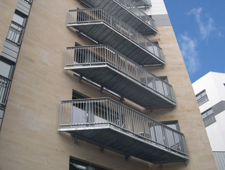 Mild Steel Cantilevered Balcony Designed To Follow The